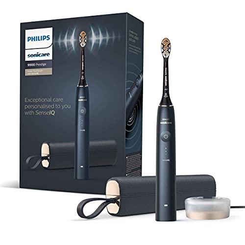 Philips Sonicare 9900 Prestige unsere fortschrittlichste elektrische Zahnbürste HX9992/12 mit SenseIQ, All-in-One Bürstenkopf, künstliche Intelligenz in der Philips Sonicare App, Farbe: Nachtblau