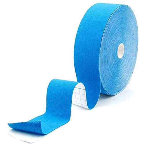Portable sports tape Cómodo 10 pack Kinesiology Tape 5M Atlético Deportes Cintas Rolls Rodilla Rodilla Codo Protector Impermeable Músculo Vendaje Fitness Running (Color: Azul claro, Tamaño: 7.5cm 5m)