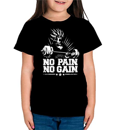 The Fan Tee Camiseta de NIÑAS Crossfit Deporte Gimnasio Gym Pesas Goku Dragon Ball 035 7-8 años