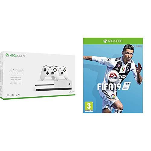 FIFA 19 + Xbox One S - Pack Con Consola 1 TB, 2 Mandos Y 3 Meses De Game Pass