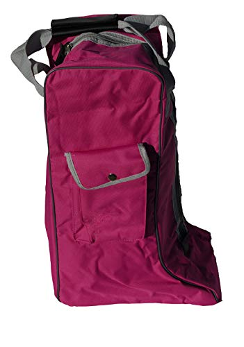 Rhinegold Long Boot Bag Bolsa para Botas, Rosa Oscuro, Talla única