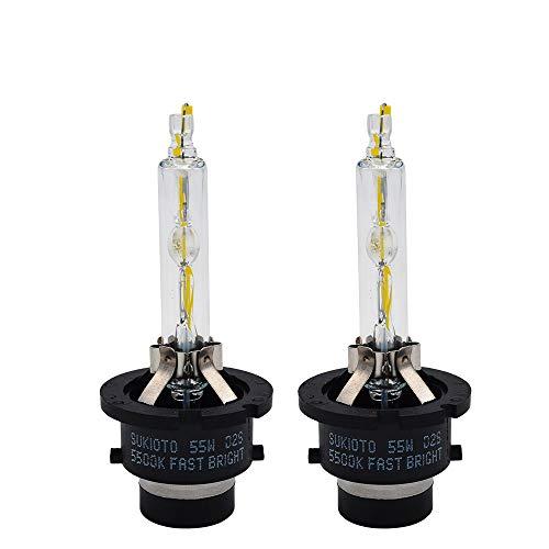 PMWLKJ D4s Xenon Lampe Schnell Hell 55w D4s D2s Weiß 5500k German Tech Oem Hid Projektorobjektivlampe 55W D2S