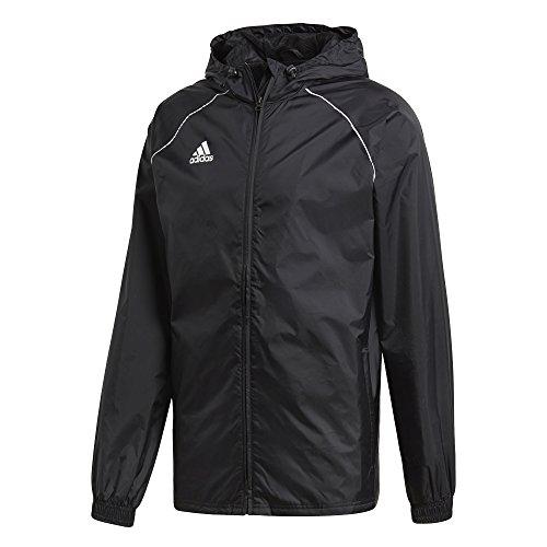 adidas Core18 Rain Jacket, Uomo, Black/White, S