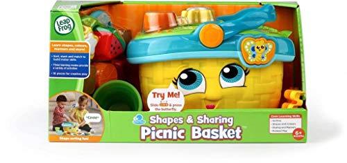 LeapFrog 603653 Formen & Teilen Picknickkorb gelb Formen und Teilen Lernspielzeug, Einheitsgröße