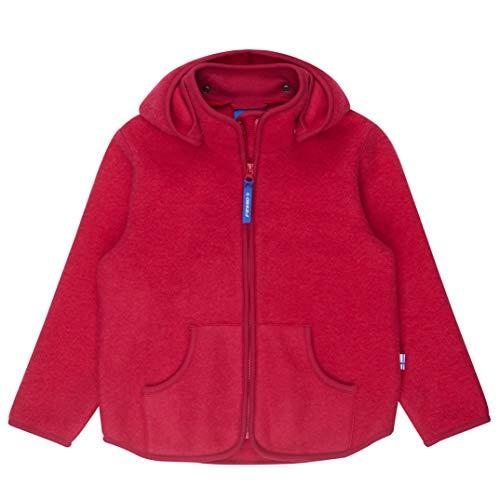 Finkid Tonttu Sport Wool persian red Zip In Kinder Wollfleece Jacke