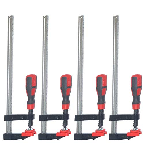 4pc F Clamp Bar Clamp Heavy Duty 600 x 80mm 24' Long Quick...