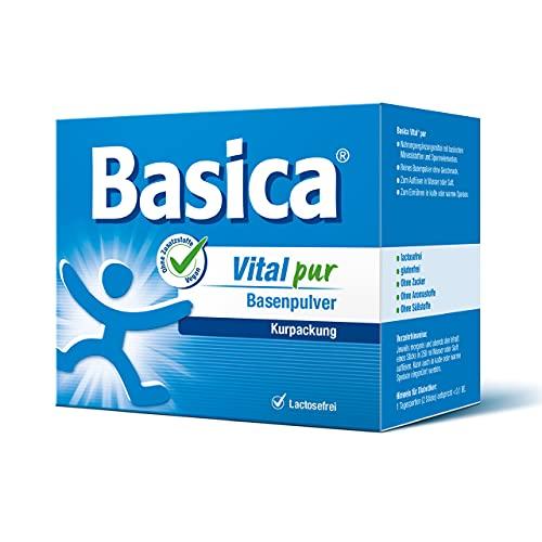 Basica Vital pur, reines Basenpulver reich an Mineralstoffen und Spurenelementen, für Diät, Basenfasten, vegan, 50 Sticks