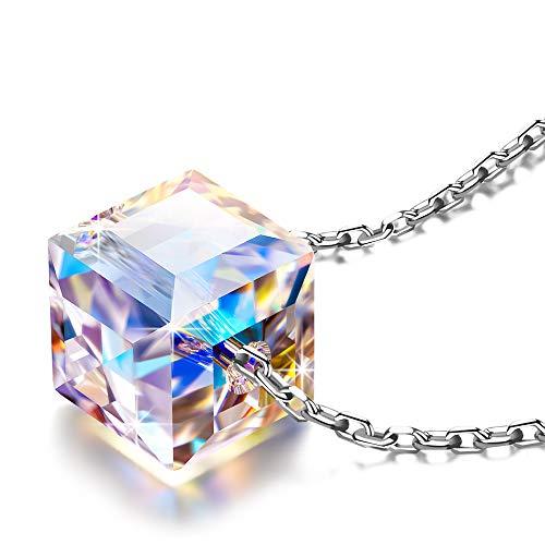 Alex Perry Regalos para Mujer San Valentín mujer collares cadena de plata mujer cristal...
