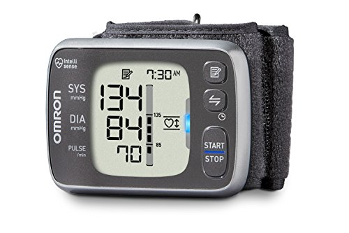 Omron 7 Series Wireless Wrist Blood Pressure Monitor; 100-Reading Memory with Heart Zone Guidance -...
