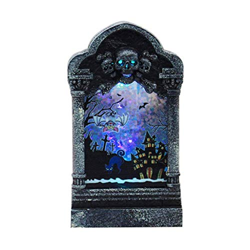 LQH Ornamento de la iluminación LED del Esqueleto de Halloween turística (Size : D)