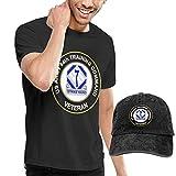 sunminey Homme T- T-Shirt Polos et Chemises Men's Cotton T Shirt + Baseball Hat - US Army 84th Training Command Unit Crest Veteran
