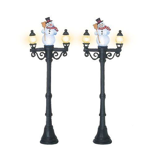Department 56 Accessories for Villages Miniature Snowman Street Light Display Piece (Set of 2)