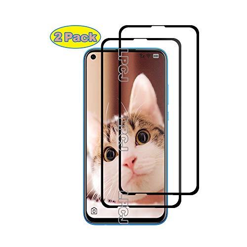 LPCJ Protector de Pantalla Huawei Nova 5i, [2 Piezas] Cristal Templado, [Cobertura [Dureza 9H] [Alta Definición ],Protector Pantalla para Huawei Nova 5i