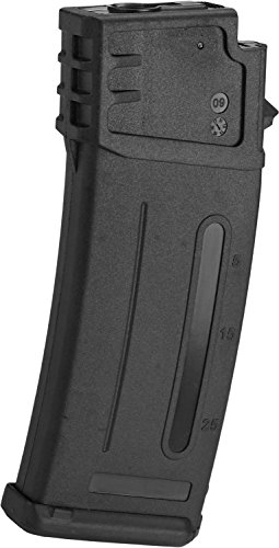 Evike - Matrix 300rd Flash Mag Slim Hi-Cap Magazine for G36 Series Airsoft AEG Rifles (Color: Black)