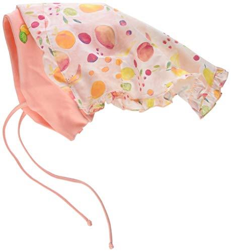 maximo Mädchen Kopftuchmütze Mütze, Mehrfarbig (Zartrosameliert-Gelb-Früchte 40),...