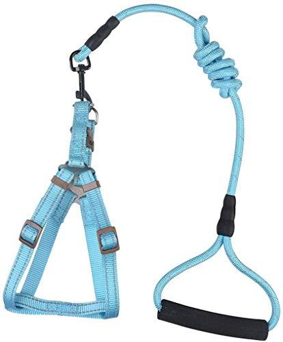 Zwcws Nuit de Traction de Ceinture Bracelet Dog Pet Supplies Portable Dog chaîne Gilet réfléchissant à Haute résistance Matière Nylon Traction Corde Course à Pied Multi-Fonction Pet Traction Corde