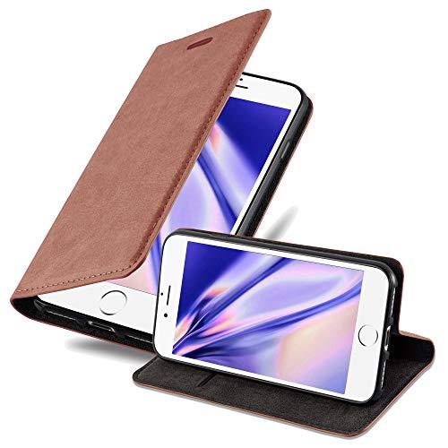 Cadorabo Funda Libro para Apple iPhone 6 Plus/iPhone 6S Plus en MARRÓN Capuchino - Cubierta Proteccíon con Cierre Magnético, Tarjetero y Función de Suporte - Etui Case Cover Carcasa