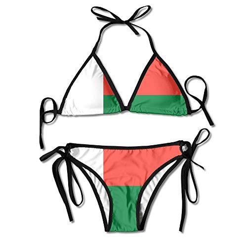 Traje De Baño Bandera De Madagascar - Conjunto De Bikini para Piscina, Hermoso Y Duradero, Vacaciones De Verano, Cumpleaños, Sexy, Sexy, Ropa Interior, Cosplay, 2 Piezas, Hawaii, R