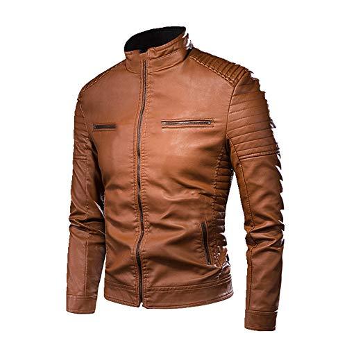N\P Chaqueta de cuero de los hombres de otoño chaqueta de los hombres