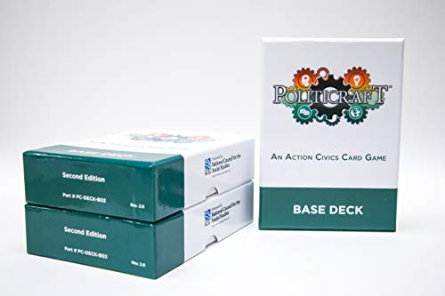 PolitiCraft Action Civics Card Game - Base Deck (Second Edition)
