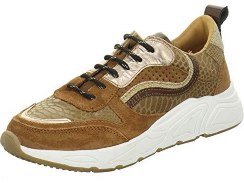 PS Poelman Damen Sneaker Low 13POE Cognac 39