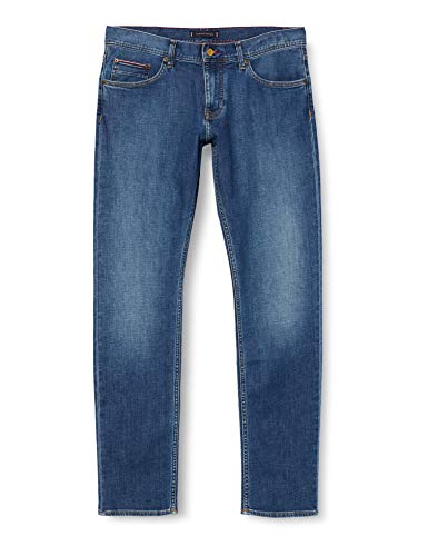 Tommy Hilfiger Herren Slim Bleecker Str Bedias Blue Loose Fit Jeans, Blau (BEDIAS BLUE 1BR), W40/L36