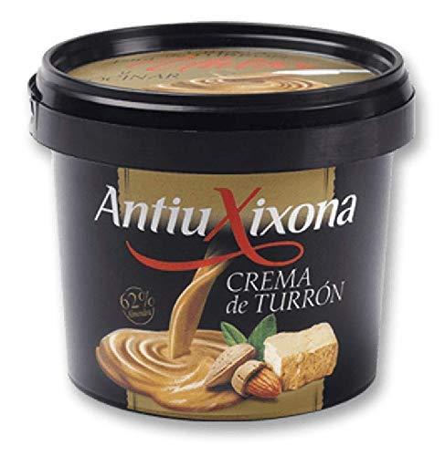 Crema de Turrón de Jijona para Untar y cocinar - 350 gramos - Marca Antiu Xixona - Directa para consumir - Muy utilizada para elaborar postres y salsas de turrón de Jijona