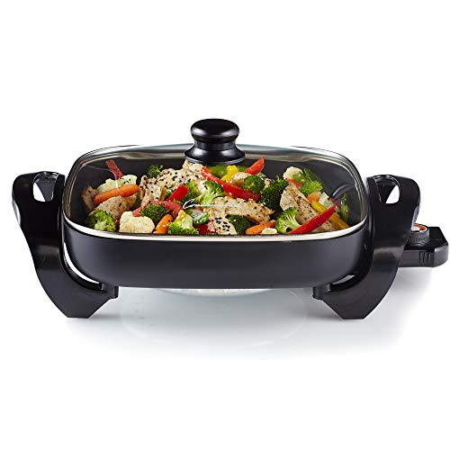 "Continental Electric CE23741 12"" Inch Electric Non-Stick Skillet, Black"