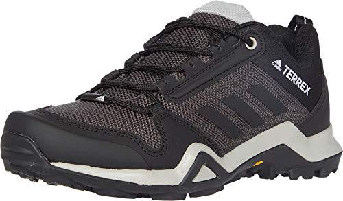 adidas outdoor womens Terrex Ax3 Hiking Shoe, Solid Grey/Black/Purple Tint, 7.5 US
