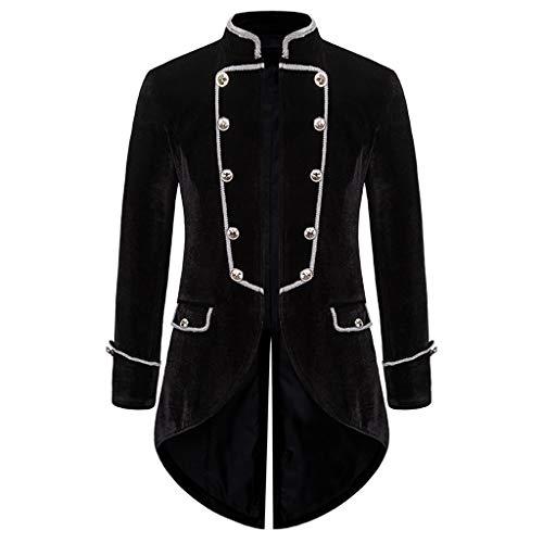 Reooly Abrigo de Hombre Chaqueta Rompevientos Abrigo gótico Abrigo Uniforme Esmoquin Ropa Fiesta Abrigo