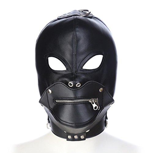 Forma de Labios Punk Cara Completa MK Divertido Ojos Abiertos Boca Sombrero Transpirable Capucha para Disfraz de Halloween