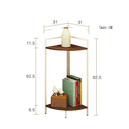 TUNBG Hoek Plank Vloerhoek Decoratieve Bloemenstandaard Fan-vormige Hoek Tegen Muur Opslagrek Voor Slaapkamer Woonkamer Keuken (Kleur : D, Maat : 40cm)
