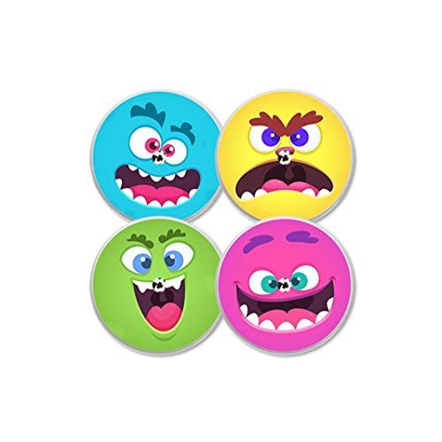 MySweetStitch   Freestyle Libre Sensor Sticker 4er Set Zucker Monster   mit Loch für Belüftung der Haut