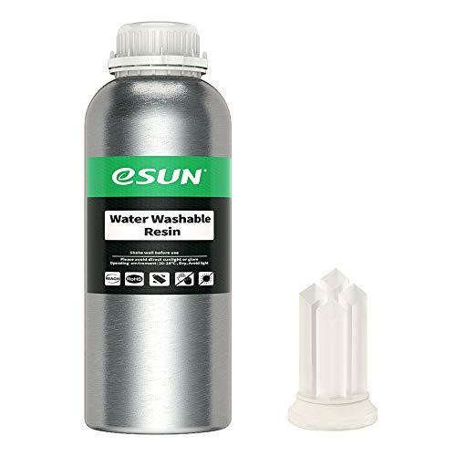 eSUN Water Washable 3D Printer Rapid Resin, LCD UV Curing Resin 405nm Standard Photopolymer Resin for Photon LCD 3D Printer Liquid 3D Resin, 1000g Transparent