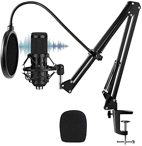 BESTOR® Professional Condenser Microphone Kit Podcast Mic with Boom Arm Microphone with Stand