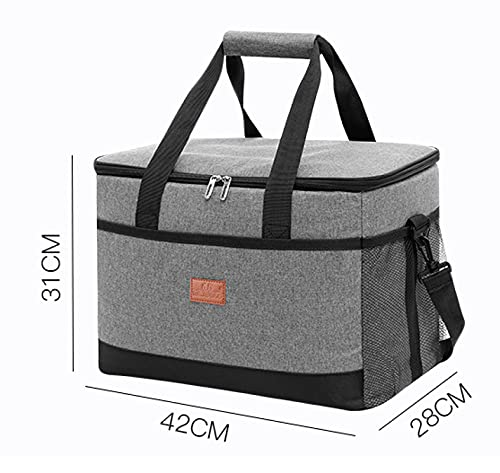 Large Oxford cloth thick insulation bag waterproof ice pack outdoor car picnic bag 42*28*31cm (33L) navy blue