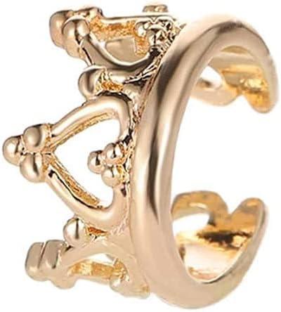 JYMBK Hoop Earrings Crown Design Ear Cuff 1pc (Color : Gold)