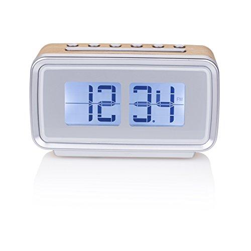 Oferta de Smartwares CL-1474 – Reloj despertador, retro, radio FM, pantalla regulable