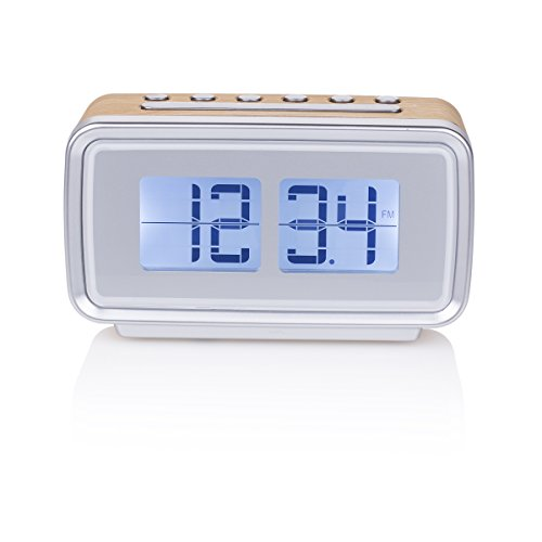 Smartwares CL-1474 wekker, retro, FM-radio, dimbaar display