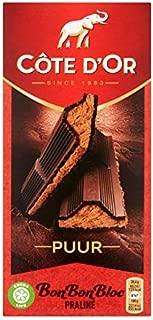 Barra de chocolate oscuro belga | Côte d'Or | Bonbonbloc Chocolate Bar Praline Dark | Peso total 200 gramos