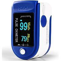 Oxímetro de Dedo con Pantalla LCD Pulsioxímetro de Pulso para Medición de SpO2 con Alarma y 4 Direcciones Giratorias Certificado por CE para Adultos y Niños