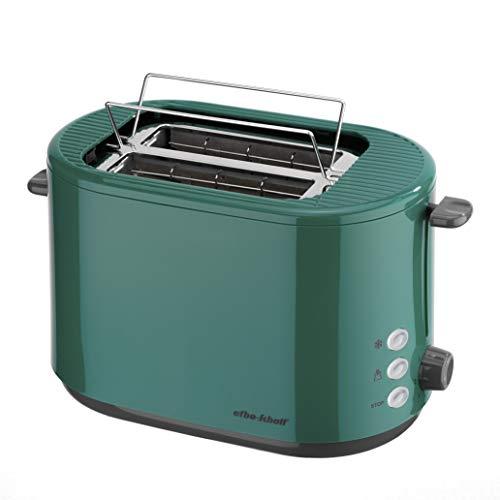 efbe-Schott SC TO 1080.1 GRN Design-Toaster mit klappbarem Brötchenaufsatz, Metall, Kunststoff, Grün