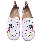 UIN Women's Fishes Funny Canvas Walking Shoes White (10)