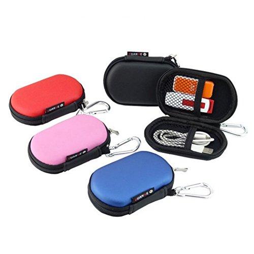 Electronisches Zubehöre Organizer Case Tasche Tragetasche Wasserdicht für USB Drive Shuttel Festplatte Kabel und sonstiges Zubehör Unisex Tragbare Reisetasche,Schwarz