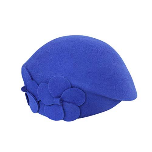 Review NotingBuss-Home Lady French Beret Floral Dress Beanie Winter Hat Painter Hat Cap Vintage Warm...