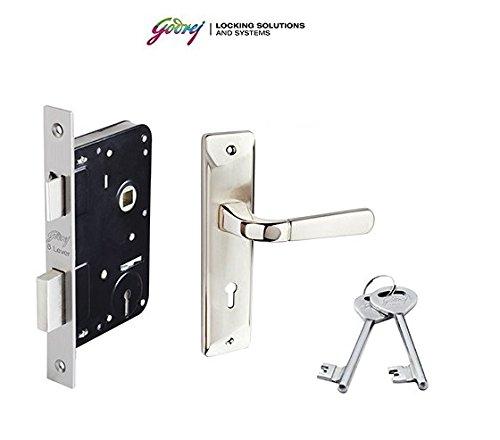 Godrej ELC 04 6-Lever Zinc Alloy Door Handle with Lock Body