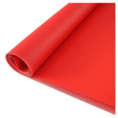 wangk Polipiel Textura De Lichi De Imitación Material para Tapizar,Manualidades,Cojines O Forrar Objetos.Ancho 138cm-Rojo 1.38x20m