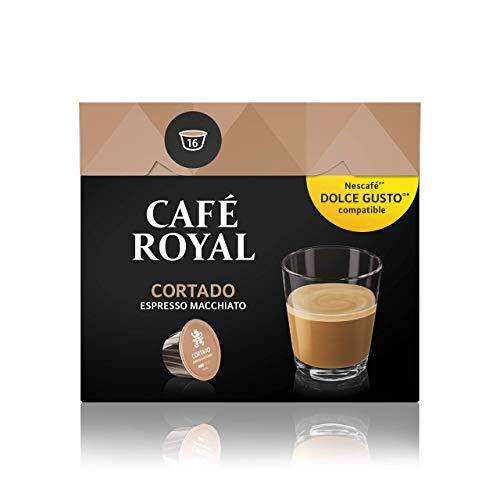 Café Royal Cortado Neue Generation, 48 Nescafé Dolce Gusto kompatible Kapseln, 3er Pack (3 x 16 Kapseln)