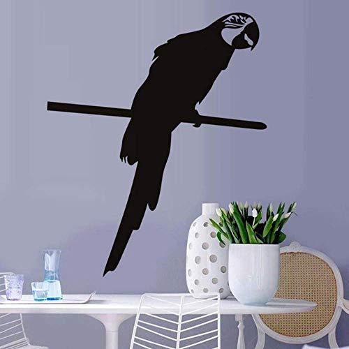 Slimme papegaai huisdier vogel dier muur sticker woonkamer huisdecoratie Vinyl Art muursticker slaapkamer huisdecoratie 58x70cm