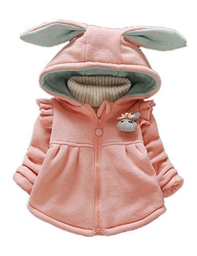 Sevenelks Baby Mädchen Kinder mantel Jacke Kapuze mit ohren 0-3 Jahre